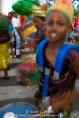 MARTINIQUE. French Antilles. West Indies. Fort-de-France. Young drummer in parade during Carnival.