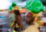 MARTINIQUE. French Antilles. West Indies. Fort-de-France. Woman in costume in parade during Carnival.