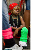 MARTINIQUE. French Antilles. West Indies. Fort-de-France. Young boy parade spectator during Carnival.