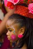 MARTINIQUE. French Antilles. West Indies. Fort-de-France. Young girl elaborately dressed for Carnival.