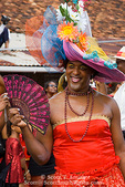 MARTINIQUE. French Antilles. West Indies. Fort-de-France. Cross-dressed man in parade during Carnival.