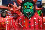 MARTINIQUE. French Antilles. West Indies. Fort-de-France. Red Devils (symbol of Carnival in Martinique) in parade during Carnival.