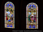 MARTINIQUE. French Antilles. West Indies. Fort-de-France. Stained-glass windows in St. Louis Cathedral. Built in 1878, the cathedral is the sixth church on this site (the others were destroyed by fire, hurricane, and earthquake).