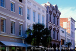 CHARLESTON, SOUTH CAROLINA. USA. Buildings along King Street, downtown.