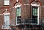 CHARLESTON, SOUTH CAROLINA. USA. Iron work & brickwork, Nathaniel Russell Mansion, completed 1808.