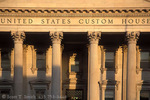 CHARLESTON, SOUTH CAROLINA. USA. Columns at entrance to U.S. Customs House. Building completed 1879.