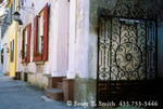 CHARLESTON, SOUTH CAROLINA. Houses & wrought iron gate on Church Street.