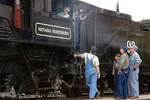 ELY, NEVADA. USA. Steam locomotive 93, put into service in 1909 by Nevada Northern Railroad to haul ore, is now part of Nevada Northern Railway Museum. A working locomotive, it hauls visitors along route to Ruth Mine.