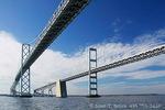 MARYLAND. USA. Highway 301 bridges across Chesapeake Bay.