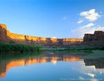 UTAH. USA. Cliffs at sunrise along Green River at Mineral Bottom.