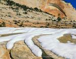 ZION NATIONAL PARK, UTAH. USA. Snow on Navajo Sandstone.