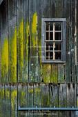 BUFFALO NATIONAL RIVER, ARKANSAS. USA. Detail of barn in Boxley Valley along Buffalo River.