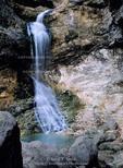BUFFALO NATIONAL RIVER, ARKANSAS. USA. Eden Falls along Clark Creek. Lost Valley.