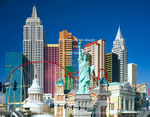 Las Vegas, Nevada. USA. New York, New York Hotel & Casino. The Strip (Las Vegas Blvd.).