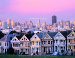 San Francisco, California. USA. View of Victorian houses (the