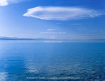 Utah. USA. Cirrostratus cloud above Bear Lake. View from Cisco Beach on east shore.