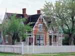 Midway, Utah. USA. Historic William Bonner House at Bonner Corners showing Swiss architecture. House on National Register of Historic Places.