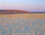 Wyoming. USA. Sand dunes & Table Mountain at sunset. Ferris Dunes, Great Divide Basin. Red Desert.