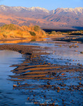 Death Valley National Park, California. USA. Amargosa River & Panamint Range at sunrise. Death Valley.