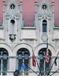 Saint Louis, Missouri. USA. Façade of historic St. Louis Union Station, built 1893.