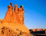 "Arches National Park, Utah. USA. Rock formation named ""The Three Gossips""."