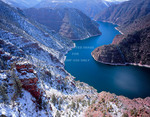 Flaming Gorge National Recreation Area, Utah. USA. Flaming Gorge Reservoir in Red Canyon.