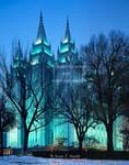 Salt Lake City, Utah. USA. LDS (Mormon) Temple at Temple Square.