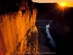 Grand Canyon National Park, Arizona. USA. Limestone cliffs & the Colorado River at sunrise. Toroweap.
