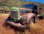 Utah. USA. Abandoned farm truck. Nine Mile Canyon. West Tavaputs Plateau.