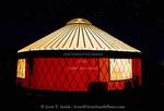 Torrey. Yurt late at night.