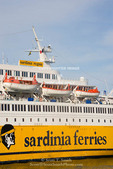 Corsica. France. Europe. Ferry at New Port in Bastia. Corsica/Sardinia Ferries.