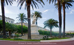 Corsica. France. Europe. Statue of Napoleon at St. Nicolas Square (Place St. Nicolas) in Bastia.
