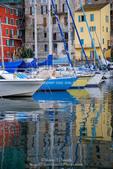 Corsica. France. Europe. Sailboats at the marina at Old Port in Bastia.