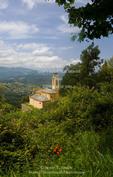 Corsica. France. Europe. Church at Poggia d'Oletta.
