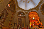 Corsica. France. Europe. Interior of church in Calvi.