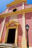 Corsica. France. Europe. Exterior of church in Calvi.