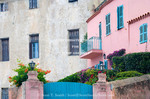 Corsica. France. Europe. Apartment building & house in Calvi.