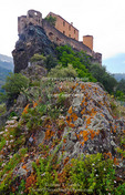 Corsica. France. Europe. Fortress on rock in Corte.