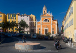 Corsica. France. Europe. Church and other building in Ajaccio.