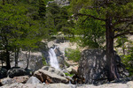 Corsica. France. Europe. Waterfall at Cascades des Anglais. Along the GR20 trail (aka, Fra li Monte).