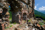 Corsica. France. Europe. Ruins of a Genoese fort and garrison at Col de Vizzavona.