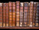 Corsica. France. Europe. Old books in Ajaccio municipal library.