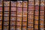 Corsica. France. Europe. Old books in Ajaccio municipal library.