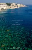 Corsica. France. Europe. View of white limestone cliffs & clear water of Mediterrean Sea from Bonifacio.
