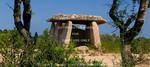 Corsica. France. Europe. Fontanaccia Dolmen (Dolmen de Fontanaccia). Bronze-age granite megalith. Cauria Archeological Site (Site archéologique Cauria).