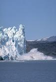 Iceberg calving from Marjerie Glacier