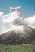 Eruption of the Arenal Volcano