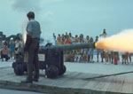 A Cannon Firing Demonstration