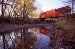 The Red Covered Bridge on Bureau Creek (1863)
