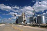 Eastbound Iowa Route 9 in Lakota